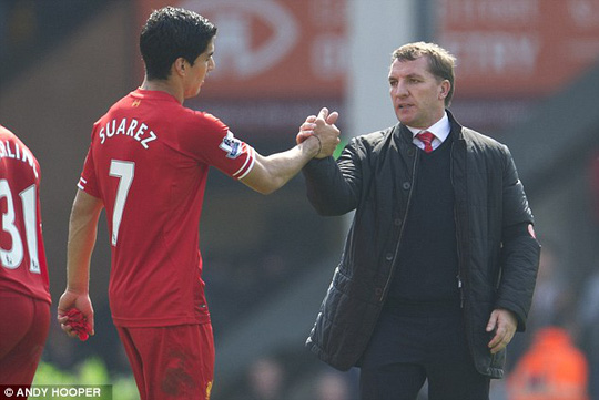 Suarez và HLV Rodgers xuất sắc nhất mùa này
