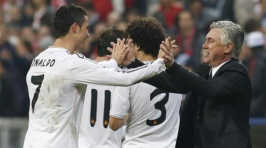 Ronaldo và HLV Ancelotti