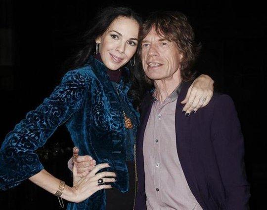 LWren Scott và Mick Jagger