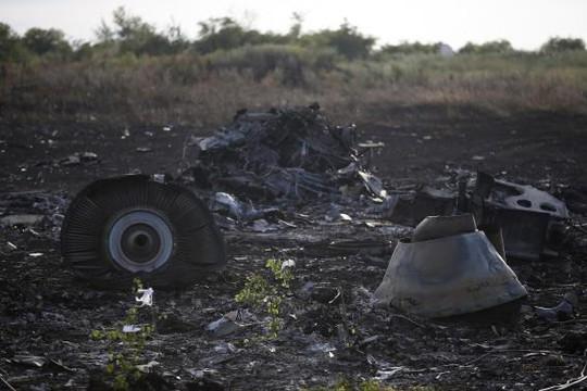 Hiện trường tan nát của MH17. Ảnh: Reuters