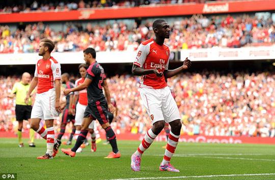 Sagono bỗng nhiên tỏa sáng với 4 bàn thắng cho Arsenal