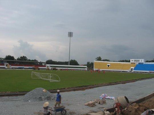 SVĐ Đồng Nai đang được sửa sang, nơi đội chủ nhà Đồng Nai sẽ đón tiếp đội SHB Đà Nẵng vào ngày 27-7