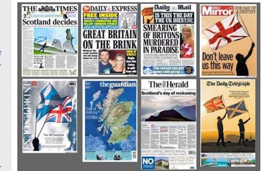 Người Anh hôm nay tỉnh dậy với hàng loạt trang bìa tràn ngập nỗi lo chia cắt