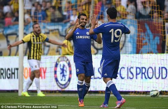 Salah ghi bàn mở tỉ số cho Chelsea