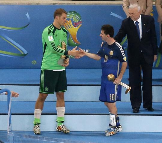 Messi và thủ môn Neuer