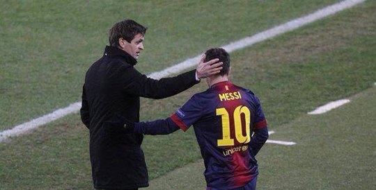 Messi và thầy Vilanova