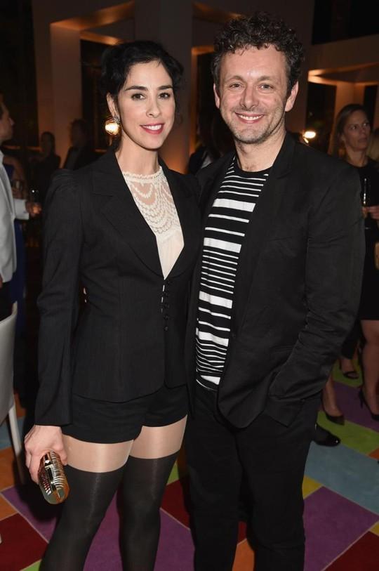 Sarah Silverman và Michael Sheen