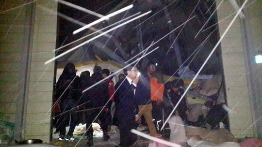 Có hơn 500 sinh viên đang nghe hòa nhạc khi tai nạn xảy ra. Ảnh: busanhaps.com