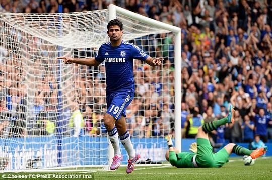 Chelsea đang bay bổng trên đôi chân của Costa và Fabregas (ảnh dưới)