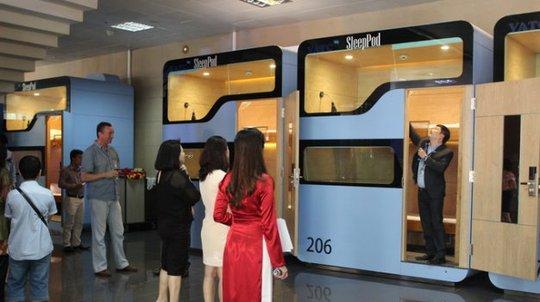 Dịch vụ hộp ngủ từng được đưa vào sử dụng tại sân bay Nội Bài hồi tháng 7 - Ảnh: VATC