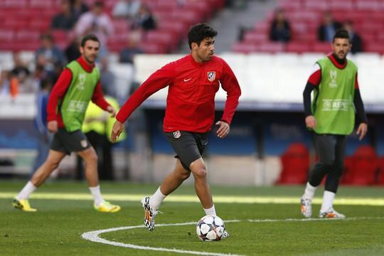 Costa đã tập luyện bình thường cùng đồng đội