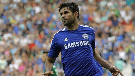 Costa ghi bàn đầu tiên cho Chelsea sau đường chuyền của Fabregas