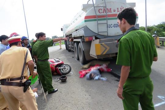 Hiện trường vụ tai nạn làm chị Nguyễn Thị Diệp Anh chết tại Quốc lộ 25