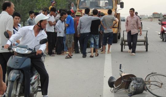 Xe đạp của nạn nhân Trần Thị Diễm Hương
