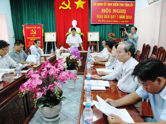 UBKT Tỉnh ủy Phú Yên công bố những sai phạm của ông Nguyễn Văn Tào, Phó Chánh án TAND tỉnh Phú Yên.