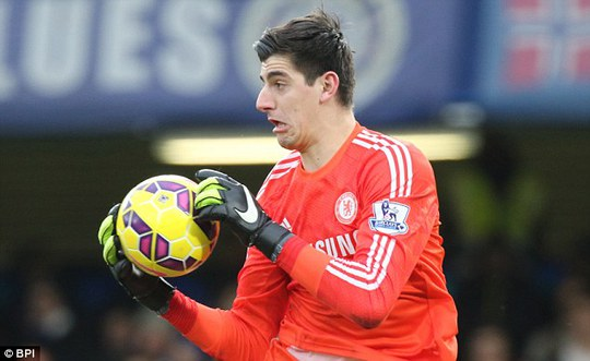 Thủ môn Courtois của Chelsea