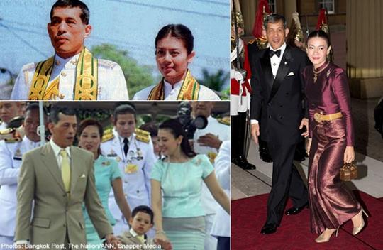 Vợ chồng Thái tử Vajiralongkorn chia tay sau 13 năm chung sống. Ảnh: The Bangkok Post, Nation