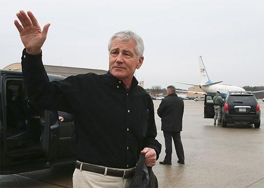 Đây nhiều khả năng sẽ là chuyến thăm Afghanistan cuối cùng của ông Hagel trên cương vị Bộ trưởng Quốc phòng Mỹ. Ảnh: Reuters