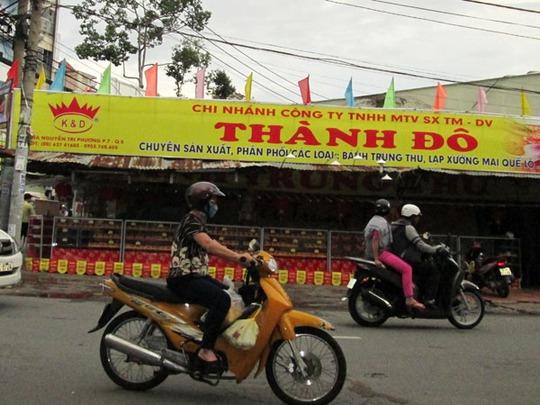Một điểm bán bánh trung thu sớm tại TP HCM