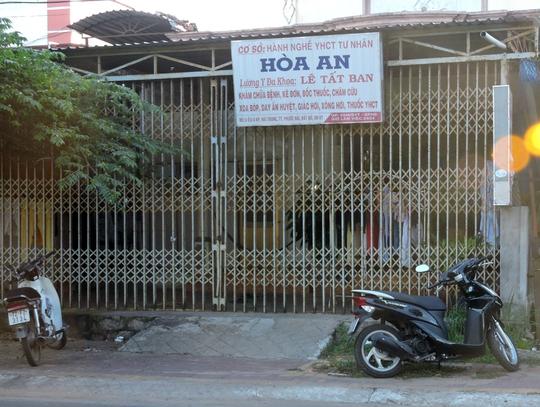 Cơ sở massage Hòa An, nơi xảy ra vụ đánh nhau giữa khách và chủ cơ sở