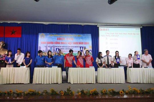 CNVC-LĐ quận Tân Bình, TP HCM thi tìm hiểu Vinh quang Công đoàn Việt Nam