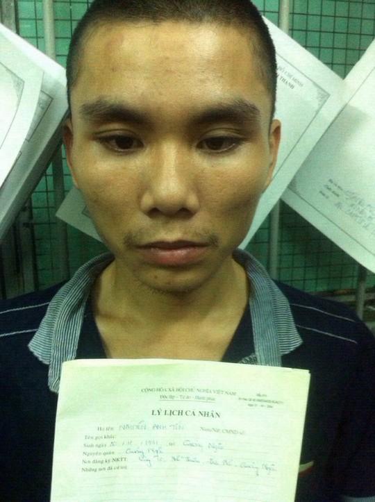 Nguyễn Anh Tín, đối tượng giết ông Tuấn rồi cướp xe vào trưa 23-9. Ảnh công an cung cấp.