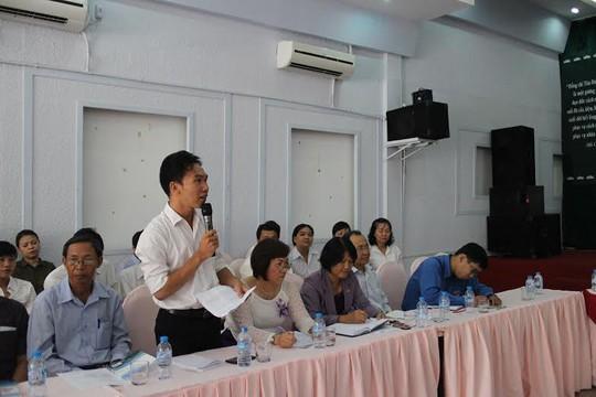 Đoàn viên ưu tú bày tỏ tâm tư, nguyện vọng tại buổi họp mặt