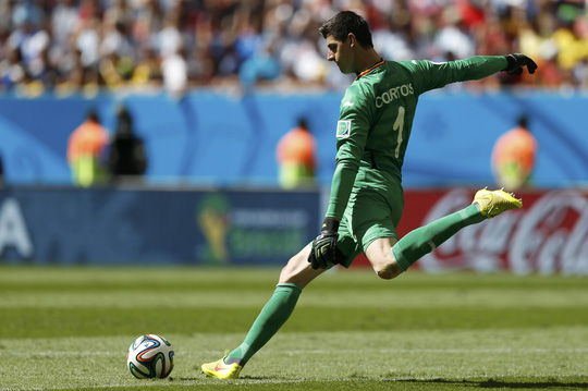 Thủ môn Courtois ở World Cup 2014