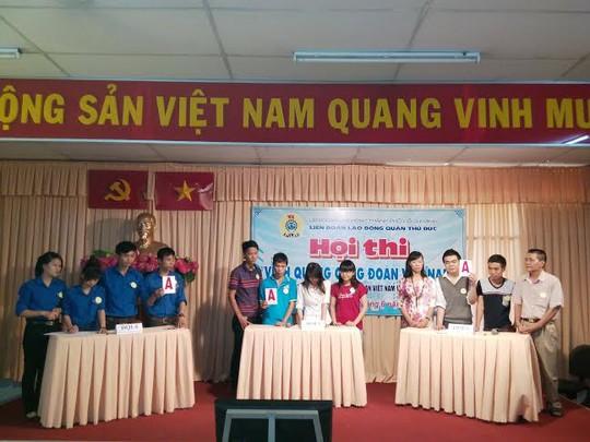 Công nhân tổ tự quản tại hội thi Vinh quang Công đoàn Việt Nam