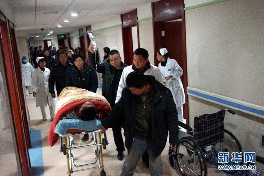 Có 10 người bị thương nặng. Ảnh: Tân Hoa Xã