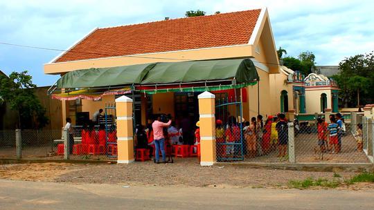 Điểm trường Mẫu giáo thôn Tùng Giản đã được xây mới khang trang