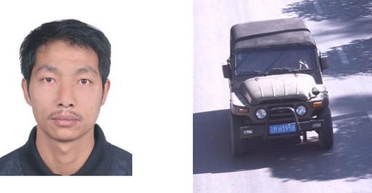 Shao Zongqi và chiếc xe mà y dùng để tẩu thoát. Ảnh: Tân Hoa Xã