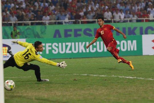 Đây là bàn thắng thứ 2 của Vũ Minh Tuấn cho Việt Nam tại AFF Cup