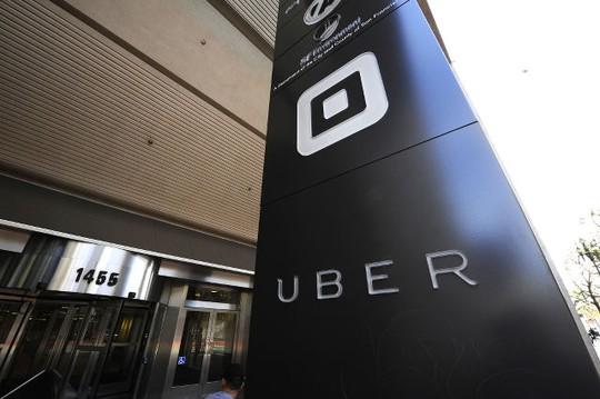 Biển hiệu của hãng Uber tại Mỹ. Ảnh: EPA