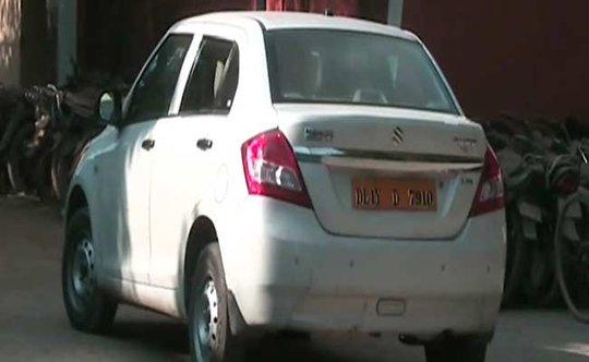 Chiếc xe đã chở nữ hành khách tối 5-12. Ảnh: NDTV