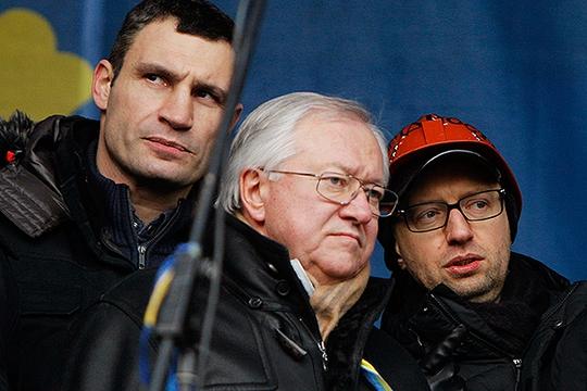 Ông Boris Tarasyuk (giữa) từ chối chức phó thủ tướng. Ảnh: REUTERS