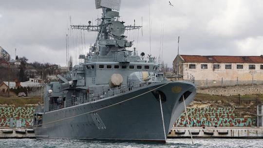 Chiến hạm Hetman Sahaidachny của Ukraine. Ảnh: Reuters
