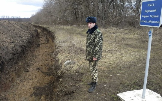 Một góc biên giới Nga-Ukraine. Ảnh: Reutes