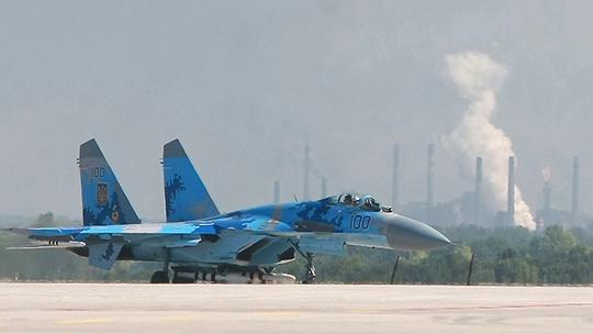 Máy bay chiến đấu Su-27 của Không quân Ukraine. Ảnh: Reuters