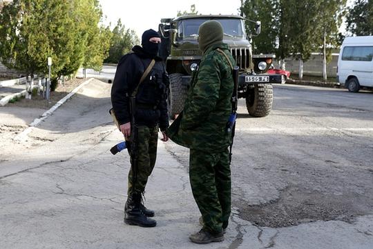 Căn cứ quân sự đang chịu sự kiểm soát của lực lượng Nga ở Bakhchisaray, Cộng hòa Crimea. Ảnh: Kyiv Post