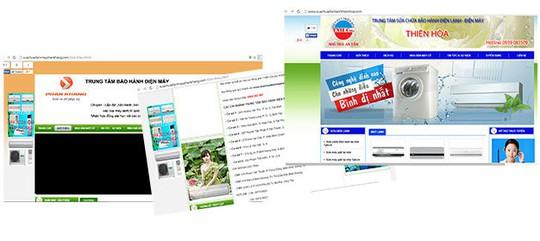 Một số trang mạng giả danh bảo hành, sửa chữa chính hãng để lừa người tiêu dùng