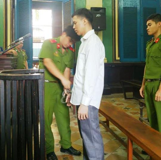 Bị cáo Chí tại phiên sơ thẩm 10-3
