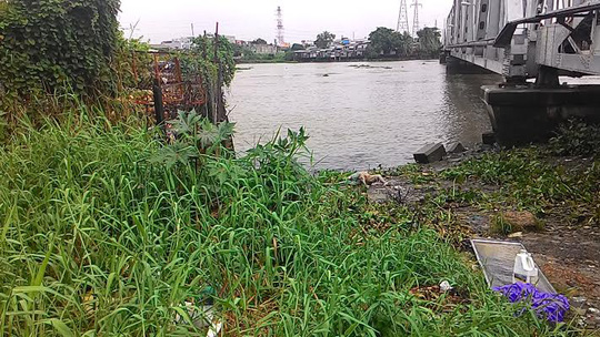 Xác nạn nhân dạt vào chân cầu Bình Lợi