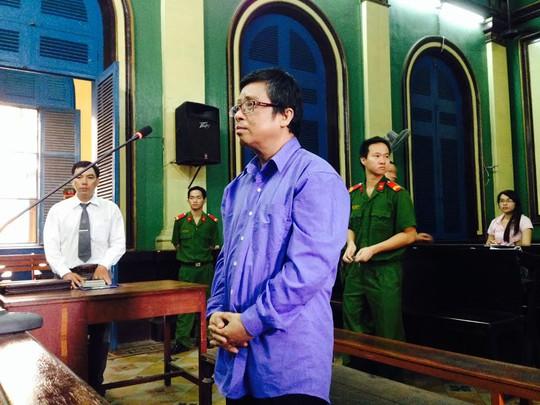 Cựu giảng viên Lê Hữu Phước tại phiên sơ thẩm