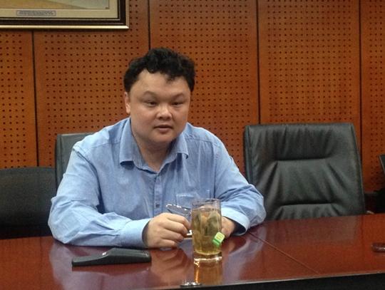 Ông Nguyễn Thế Tân, Phó Tổng Giám đốc VCcorp chia sẻ thông tin với báo giới chiều 5-11. Ảnh: CTV