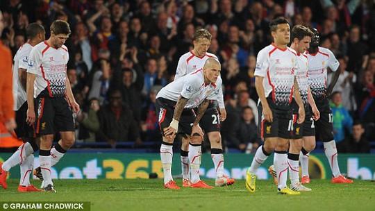 Nỗi buồn của các cầu thủ Liverpool sau trận
