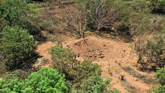 Khu vực hố được cho là do thiên thạch tạp ra ở gần sân bay Managua