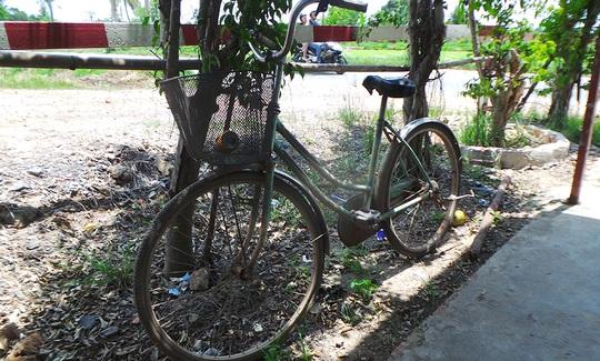 Chiếc xe đạp của nạn nhân.