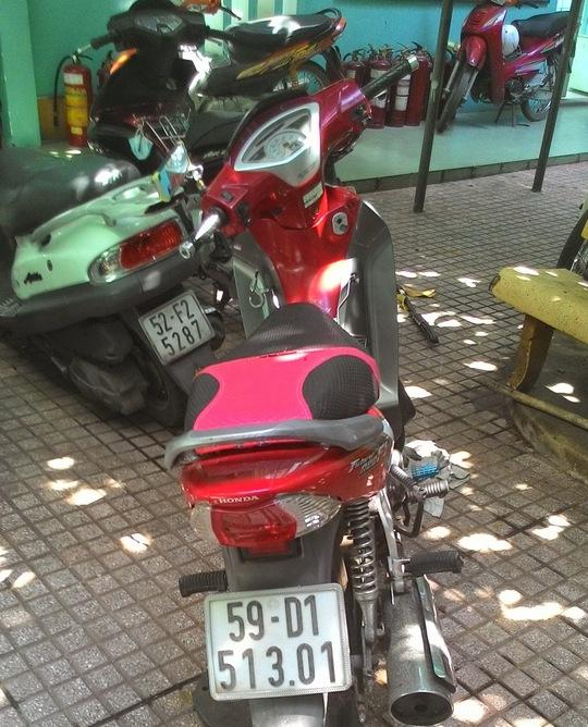 Chiếc xe máy 2 đối tượng trộm dùng làm phương tiện đi gây án.