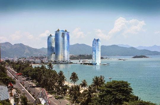 Phối cảnh cao ốc 65 tầng trong dự án của Tập đoàn Dewan